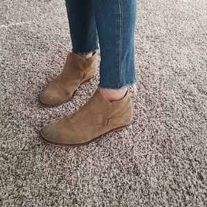 Free People Shoes - Free People Suede Distressed Ankle Booties